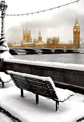 Snowy Morning, London, England