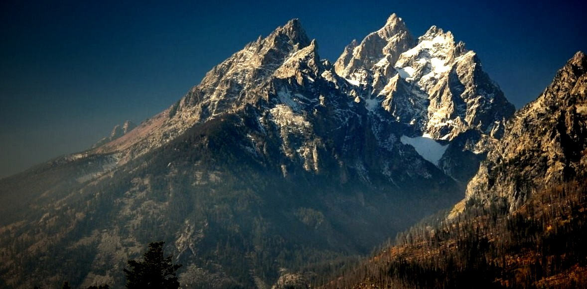 The Cathedral Group - Rocky Mountains, part of Grand Teton National Park in the US state of Wyoming.