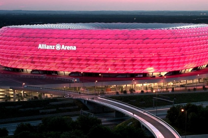 The Allianz Arena is a football stadium in the north of Munich, Germany. Home of two professional Munich football clubs Bayer Munich and TSV 1860 Munchen it is the first stadium in the world that has...