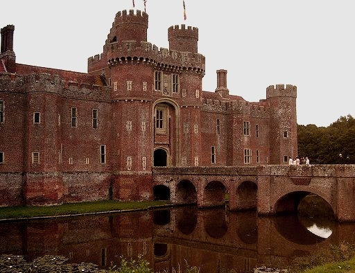 by Fenchurch again on Flickr.Herstmonceux Castle is a brick-built Tudor castle near Herstmonceux, East Sussex, England.