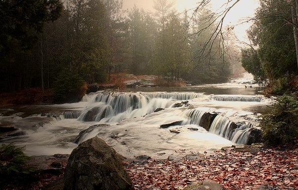 by mmnorthwoods New Albino Video on Flickr.Autumn landscape at Bond Falls - Paulding, Michigan.