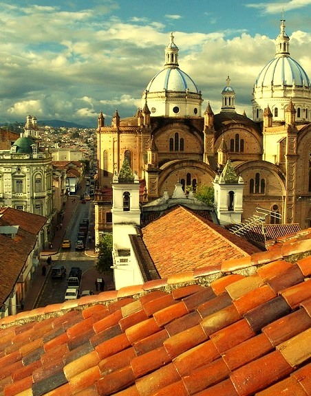 by Erik De Leon on Flickr.Roof top view over the city of Cuenca in Ecuador. The center of the city is listed as a UNESCO World Heritage Site because of its many historical buildings.