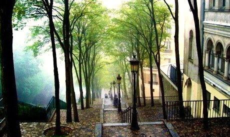 Stairs, Montmartre, Paris, France