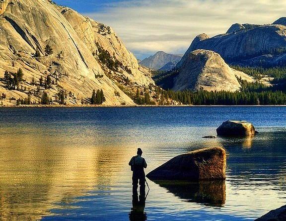 by DM Weber on Flickr.Tenaya Lake in Yosemite National Park, California, USA.