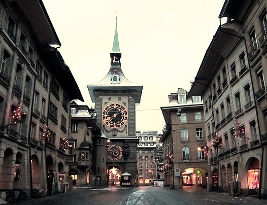 by M_Strasser on Flickr.The Zytglogge tower is a landmark medieval tower in Bern, Switzerland.