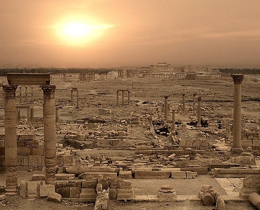 by Julian Kaesler on Flickr.Sunrise over the expansive ancient city of Palmyra, Syria.