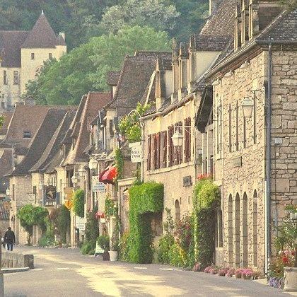 Village Street, La Roque-Gageac, France