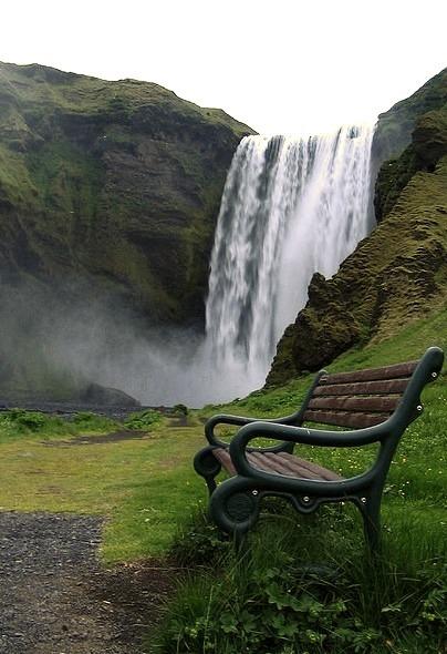 Skogarfoss waterfall in southern Iceland