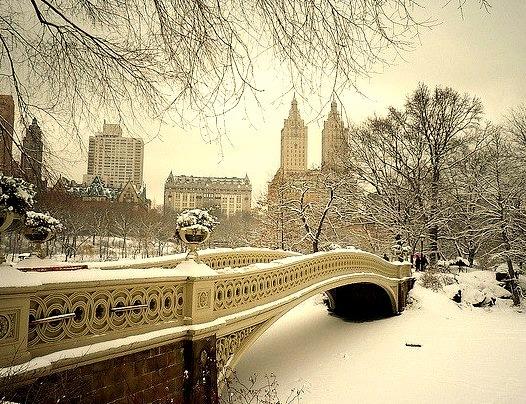 Bow Bridge in the Snow, Central Park, New York City