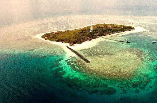 Amedee Lighthouse from above, New Caledonia