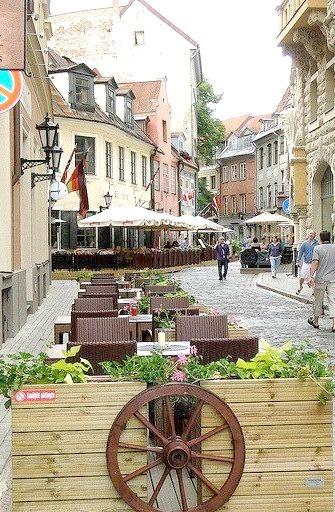 Street Scene in Old Town, Riga, Latvia