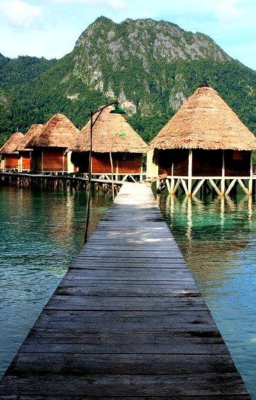 Ora Beach Resort in Maluku Islands, Indonesia