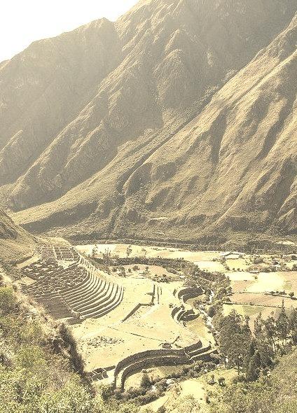 Patallacta Ruins on the Inca trail, Peru