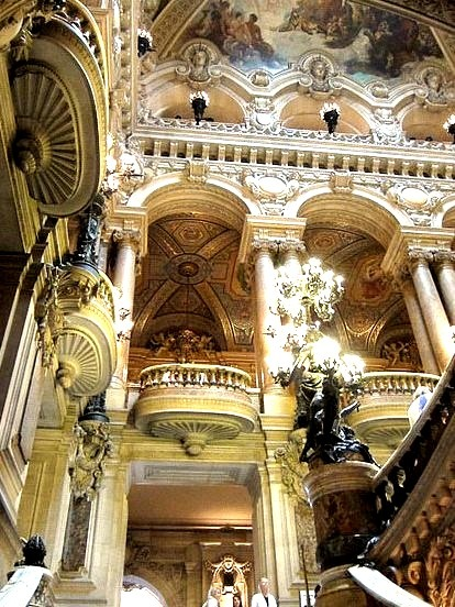 Architecture inside Opera Garnier, Paris, France