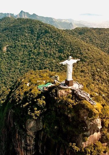 Christ the Redeemer on top of Corcovado Mountain, Rio de Janeiro, Brazil