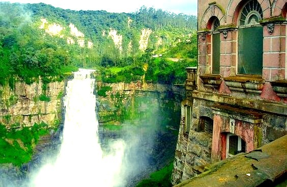 Salto del Tequendama, view from the hotel, Colombia