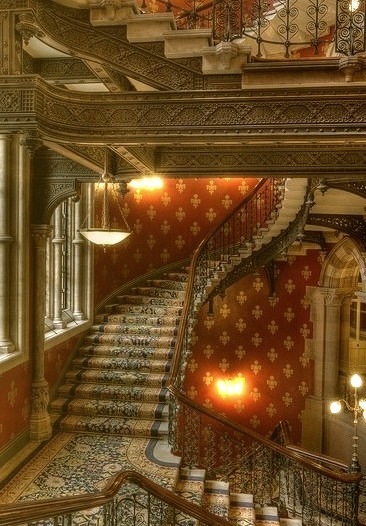 Stairway, St. Pancras Hotel, London, England