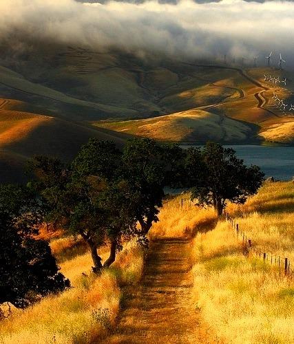 Sunrise near Los Vaqueros Reservoir in California, USA
