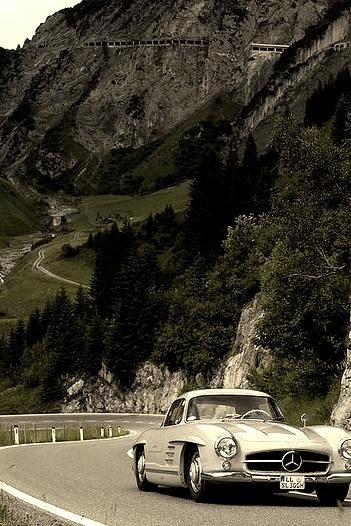 Classic Car Rally in Lech am Arlberg, Vorarlberg, Austria