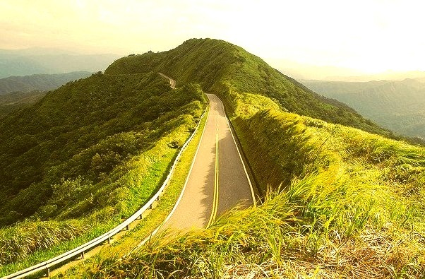 A beautiful county road connecting Gongliao and Rueifang, Taipei, Taiwan