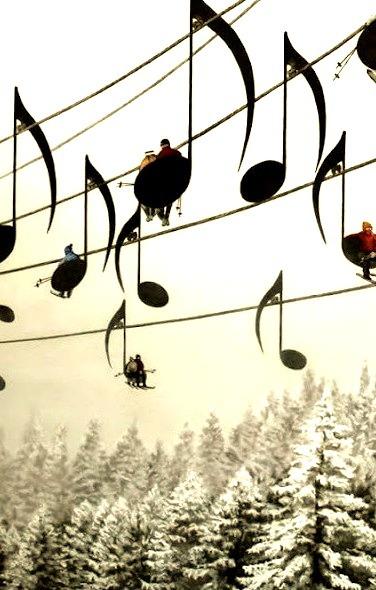 Musical Ski Lift, France