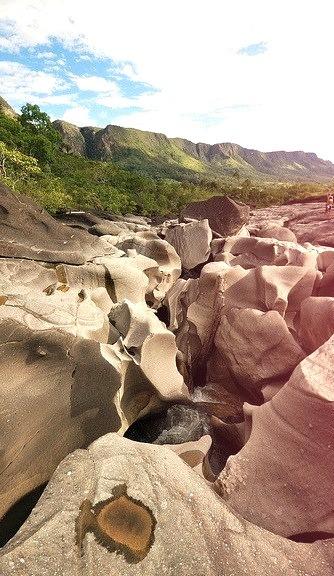 Vale da Lua in Chapada dos Veadeiros National Park, Brazil