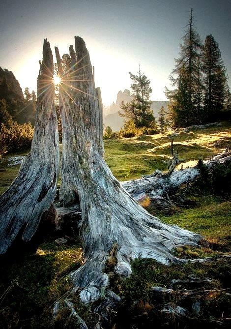 Sunset Mountain Top, The Alps, Austria