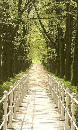 The gardens of Schaloen Castle in Limburg, The Netherlands