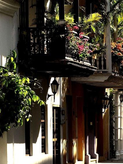 Lights and shadows, Cartagena de Indias, Colombia