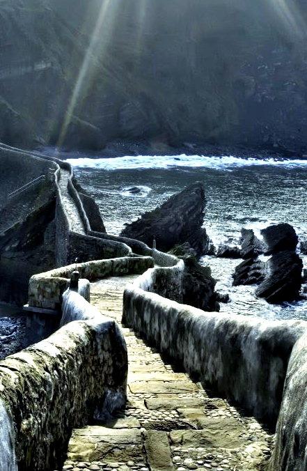 The path to San Juan de Gaztelugatxe, Basque Country / Spain