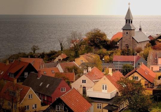 Gudhjem fishing town on Bornholm Island / Denmark